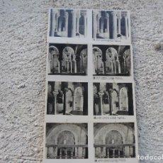 Fotografía antigua: COLECCION DE 13 MINIFOTOGRAFÍAS DOBLES . IGLESIAS ROMÁNICAS DE TARRASA. Lote 97079703