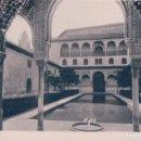 Fotografía antigua: FOTOGRAFIA GRANADA - PATIO DE LOS ARRAYANES - FACAHADA ORIENTAL - FTO HAUSER Y MENET - 11 *8 CM. Lote 97357795