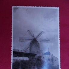 Fotografía antigua: FOTOGRAFIA. MOLINO DE VIENTO DE MALLORCA. Lote 97530551