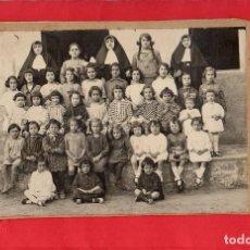 Fotografía antigua: CERVELLÓ. COLEGIO DE MONJAS 1920. Lote 97627903
