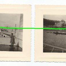Fotografía antigua: DOS FOTOS. PARIS. FOTÓGRAFO DESCONOCIDO. MURCIA. BO. Lote 98001679