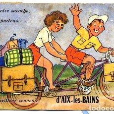 Fotografía antigua: AIX-LES-BAINS FRANCIA 1954 TARJETA POSTAL RECUERDOS FOTOGRAFICO CON FOTOS. Lote 98101435
