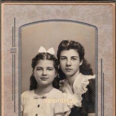 Fotografía antigua: PRECIOSA FOTOGRAFÍA DE DOS NIÑAS POSANDO. AÑOS 40. THE LOGAN STUDIOS-STOCHTON, CALIFORNIA.. Lote 98477471
