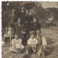 Fotografía antigua: GRUPO EN LA CAÑADA VALENCIA 1936 - C-22. Lote 98647707
