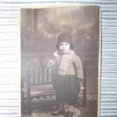 Fotografía antigua: ANTIGUA FOTOGRAFIA POSTAL NIÑA POSANDO - PRINCIPIOS SIGLO XX - ROCA MADRID. Lote 99955319
