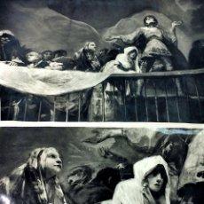 Fotografía antigua: EL MILAGRO DE SAN ANTONIO. 2 FOTOGRAFÍAS. CON SELLO DE PATRIMONIO NACIONAL. ESPAÑA.CIRCA 1940. Lote 100152375