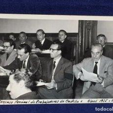 Fotografía antigua: FOTOGRAFIA VILLAFRANCA CONGRESO REGIONAL EMBAJADORES CASTILLA ABRIL 1955 BURGOS 14 X 8,5 CM. Lote 101066731
