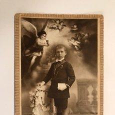 """Fotografía antigua: LLOPIS, FOTOGRAFO (VALENCIA) """"RECUERDO PRIMERA COMUNION"""" (H.1920?). Lote 102511603"""