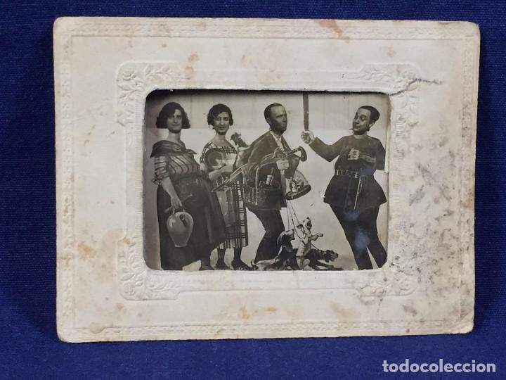 Fotografía antigua: fotografia blanco negro comica disfraces cuatro personajes fecha 3/7/30 9 x 12 cm - Foto 3 - 102600527