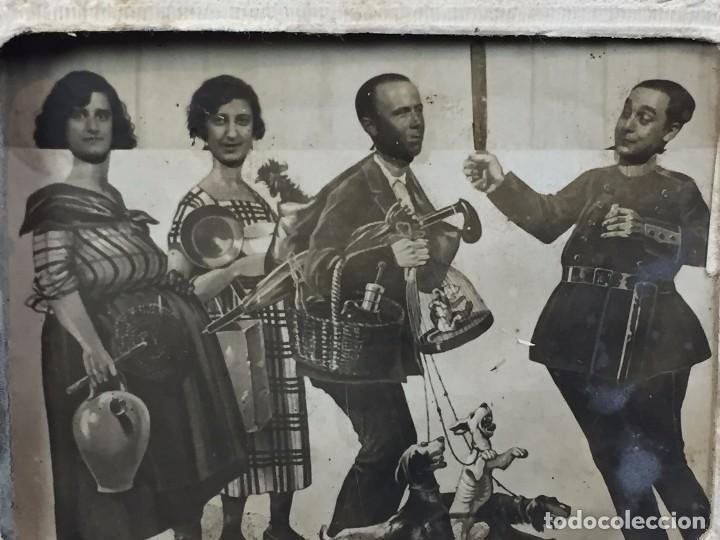 Fotografía antigua: fotografia blanco negro comica disfraces cuatro personajes fecha 3/7/30 9 x 12 cm - Foto 4 - 102600527