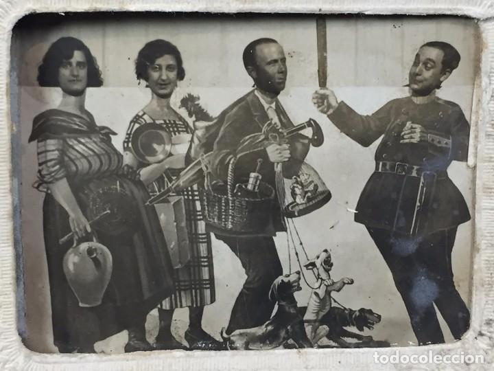 Fotografía antigua: fotografia blanco negro comica disfraces cuatro personajes fecha 3/7/30 9 x 12 cm - Foto 5 - 102600527