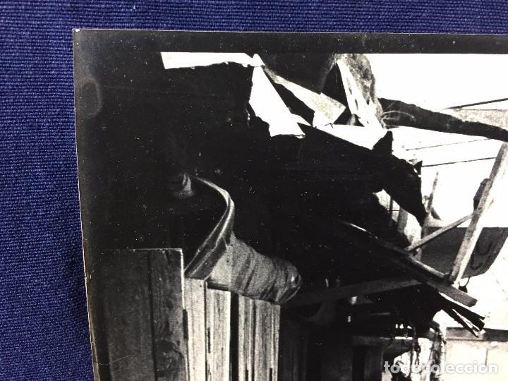 Fotografía antigua: fotografia blanco negro calle pakistan franja peshawar norte india años 50 70 40 x 27,5 cm - Foto 2 - 103389663