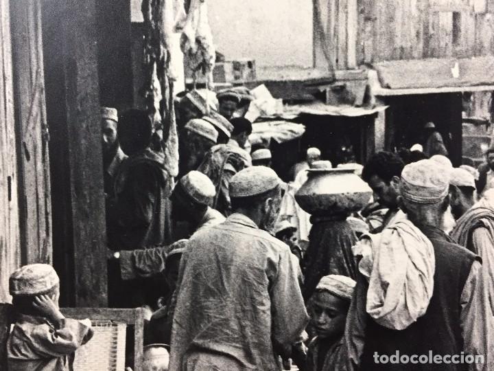 Fotografía antigua: fotografia blanco negro calle pakistan franja peshawar norte india años 50 70 40 x 27,5 cm - Foto 15 - 103389663