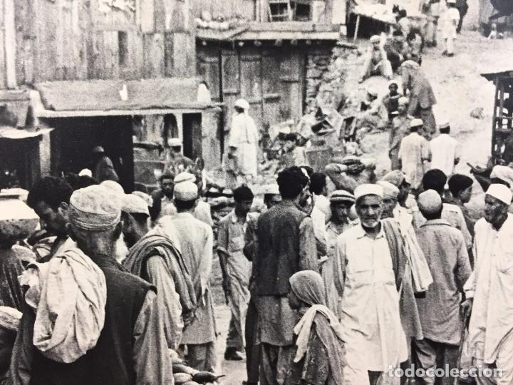 Fotografía antigua: fotografia blanco negro calle pakistan franja peshawar norte india años 50 70 40 x 27,5 cm - Foto 16 - 103389663