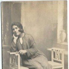 Fotografia antica: ITA250- BONITA FOTOGRAFIA ANTIGUA -UNA DAMA - DEDICADA VALLADOLID -21 - 8 - 1923. Lote 103785075