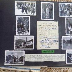 ANTIGUAS FOTOGRAFIAS PEGADAS EN HOJA DE ALBUM. AÑOS 40- 50. LOURDES. W