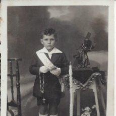 Fotografía antigua: FOTO NIÑO COMUNION.AÑOS 20. FOT. GALLEGO DE GRAUS ( HUESCA). Lote 104767679