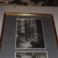 Fotografía antigua: (M) FIGUERES - 2 ANTIGUAS FOTOGRAFIAS ENMARCADAS RECONSTRUCCION IGLESIA DE SANT PERE DE FIGUERES . Lote 105191239