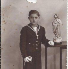 Fotografía antigua: FOTO COMUNION AÑOS 40. Lote 105800443