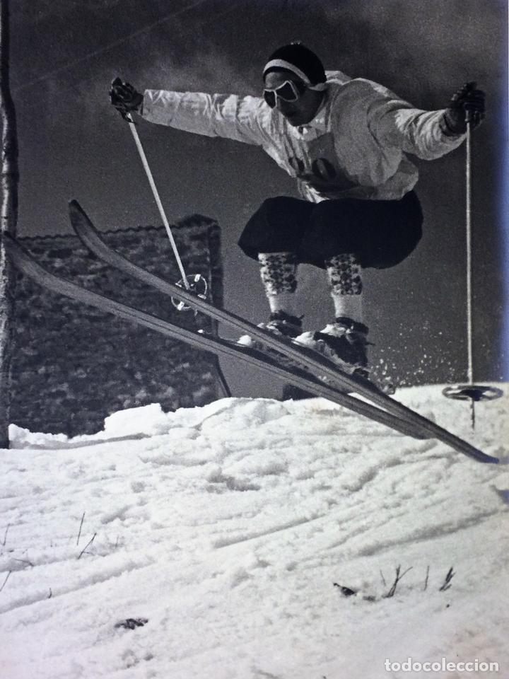 SKARE Y PARAFINA. FOTOGRAFÍAS DE ESQUIADORES. ESPAÑA. CIRCA 1940 (Fotografía - Artística)