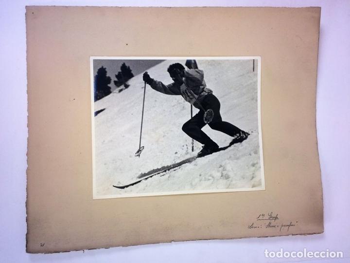 Fotografía antigua: SKARE Y PARAFINA. FOTOGRAFÍAS DE ESQUIADORES. ESPAÑA. CIRCA 1940 - Foto 6 - 107210967