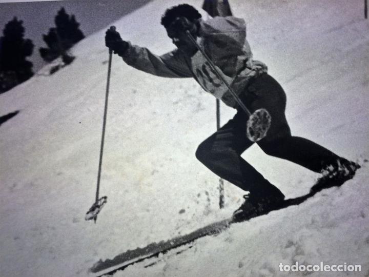 Fotografía antigua: SKARE Y PARAFINA. FOTOGRAFÍAS DE ESQUIADORES. ESPAÑA. CIRCA 1940 - Foto 9 - 107210967