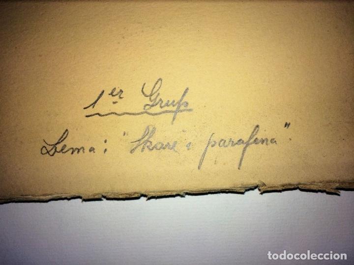 Fotografía antigua: SKARE Y PARAFINA. FOTOGRAFÍAS DE ESQUIADORES. ESPAÑA. CIRCA 1940 - Foto 10 - 107210967