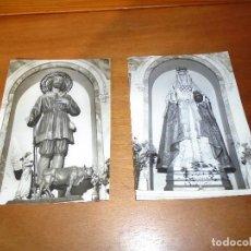 Fotografía antigua: LOTE DE DOS FOTOGRAFÍA RELIGIOSAS ANTIGUAS ORIGINALES 8UNA DE ELLAS ES SAN ISIDRO LABRADOR). Lote 107291755