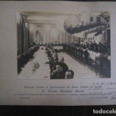 Fotografía antigua: BANCO VITALICIO DE ESPAÑA- AÑO 1924 - HOMENAJE -FOTOGRAFIA ANTIGUA- VER FOTOS-(V-13.012). Lote 107679047