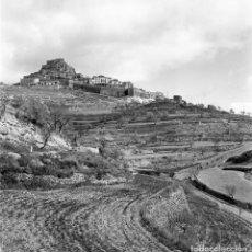 Fotografía antigua: FORCALL (VALENCIA, ELS PORTS). 3 NEGATIVOS 56X56MM DE ALTA CALIDAD. AÑOS 1960S. Lote 108260767