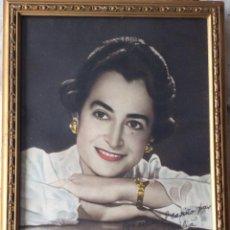 Fotografía antigua: FOTOGRAFIA ILUMINADA AÑOS 50 RETRATO DE ARTISTA -REBECA - DEDICADA . Lote 108743903