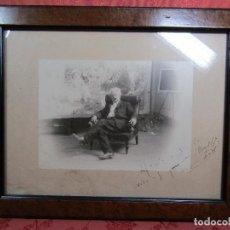 Fotografía antigua: FOTOGRAFIA ORIGINAL DEL PINTOR MODEST URGELL. Lote 108856603