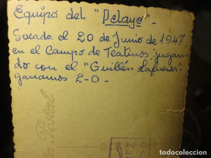 Fotografía antigua: FOTO ANTIGUA EQUIPÒ FUNDADOR FUTBOL PELAYO DE GIJON 1947 CAMPO TEATINOS OVIEDO - Foto 3 - 109008135