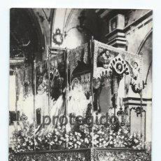 Fotografía antigua: FOTOGRAFÍA. VIRGEN DE LA AMARGURA. PASO BLANCO. LORCA, MURCIA. FOTÓGRAFO DESCONOCIDO.. Lote 110001715