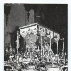 Fotografía antigua: FOTOGRAFÍA. VIRGEN DE LOS DOLORES. PASO AZUL. LORCA, MURCIA. FOTÓGRAFO DESCONOCIDO.. Lote 110001803