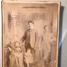 Fotografía antigua: MONTIVIDEO. FOTO BRUNEL. FOTOGRAFÍA FAMILIAR. CIRCA 1880 ?. Lote 110066999