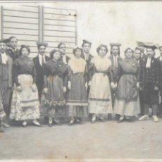 Fotografía antigua: F- 3563. FOTOGRAFIA DE GRUP ESBART DANSAIRE ANY 1910.. Lote 110189727