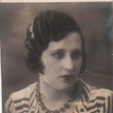 Fotografía antigua: PRECIOSA FOTOGRAFÍA. RETRATO DE BELLA MUJER DE LOS AÑOS 20. FOTO ARTE, SEVILLA.. Lote 110193043