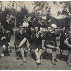 Fotografía antigua: FG-572. FOTOGRAFIA ORIGINAL COBLA DE L' ESBART DANSAIRE, ANY 1935.. Lote 110270235