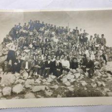 Fotografía antigua: FOTO. EXCURSIÓN A LA SERRETA DE ALCOY. FOTO PALACIO. ALCOY (VALENCIA). H. 1960?. Lote 110417794