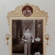 Fotografía antigua: ANTIGUA FOTOGRAFÍA DE NIÑO DE PRIMERA COMUNIÓN. Lote 110587451