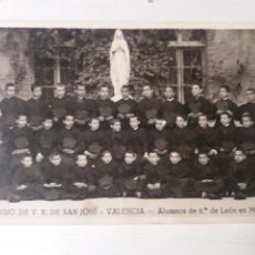 Fotografía antigua: COLEGIO DE V.E.DE SAN JOSÉ VALENCIA 1926. Lote 111532166