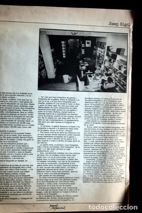 Fotografía antigua: PAPEL ESPECIAL - BOLETIN GRAFICO Nº 0 - 1978 - Revista Fotografía - 1978 - Jaume Sans - Pete - RARA - Foto 13 - 111570699