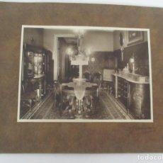 Fotografía antigua: ANTIGUA FOTOGRAFÍA - FOTÓGRAFO GAMISANS - COMEDOR DE ÉPOCA, DECORACIÓN - AÑOS 40-50. Lote 111693495