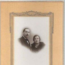 Fotografía antigua: 850- EXTRAORDINARIA FOTOGRAFIA ANTIGUA- UN MATRIMONIO - FOTO- GIL -PILAR ZARAGOZA, 14- MADRID - 1931. Lote 111815039