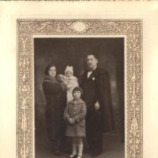 Fotografía antigua: 850- EXTRAORDINARIA FOTOGRAFIA ANTIGUA- MATRIMONIO E HIJOS - FOTO- GIL-P.ZARAGOZA, 14- MADRID - 1932. Lote 140213517