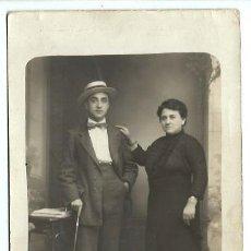 Fotografia antica: 850- EXTRAORDINARIA FOTOGRAFIA ANTIGUA-MADRE E HIJO- FOTO- BERIEGO -FUENTE DORADA,28-29- VALLADOLID. Lote 111903735