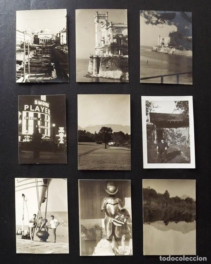 9 FOTOGRAFÍAS DE TRIESTE, ITALIA, AÑOS 50, TAMAÑO 6,5 X 9,5 CM (Fotografía - Artística)