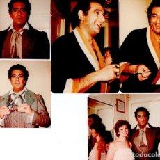 Fotografía antigua: LIRICA-OPERA ESPAÑOLA,25 FOTOGRAFIAS,TENOR PLACIDO DOMINGO,AÑO 1981,EN CAMERINO,ESTRENO OBRA,TEATRO. Lote 112907047