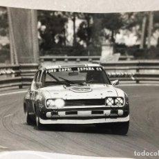 Fotografía antigua: FOTO FORD CAPRI ESPAÑA TORREDEMER MONTJUICH 1974. Lote 198129710